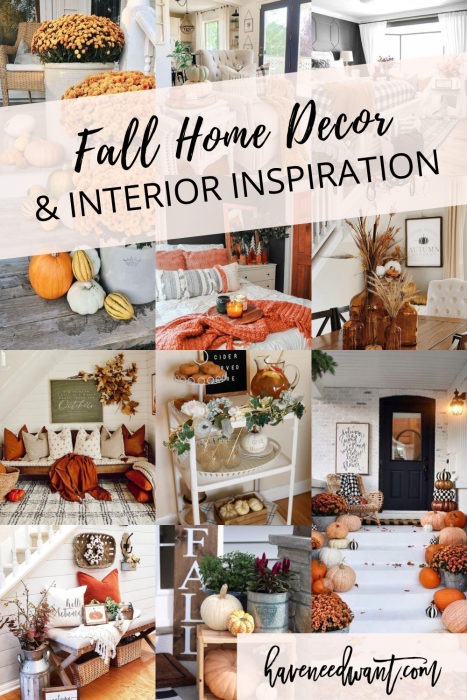 Fall decor and home inspiration on Have Need Want! Rounding up my current Fall home inspiration to help you get into the season! #fallhomedecor #fall #homeinspiration #homedecor