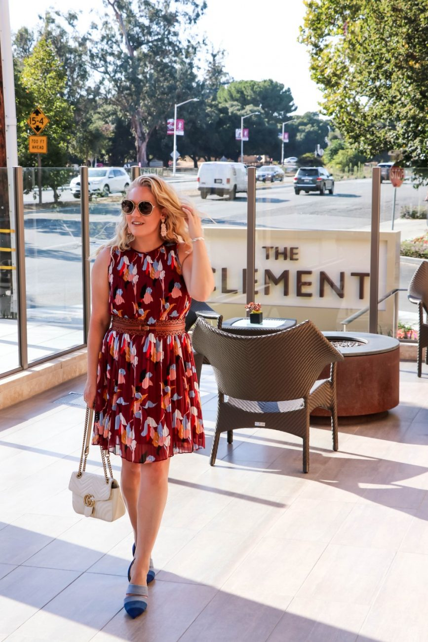 Finally feels like fall and I am breaking out all the fall colors in my wardrobe including this fall floral dress! Click on over to the blog to check it out plus get some of my favorite fall clothing! #fallfashion #fallstyle #fallflorals #fallcolors #outfitinspiration