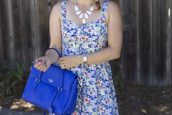 Floral Print Summer Dress Joie Clothing Summer Dress Kate Spade Fashion Blogger Summer Style 6