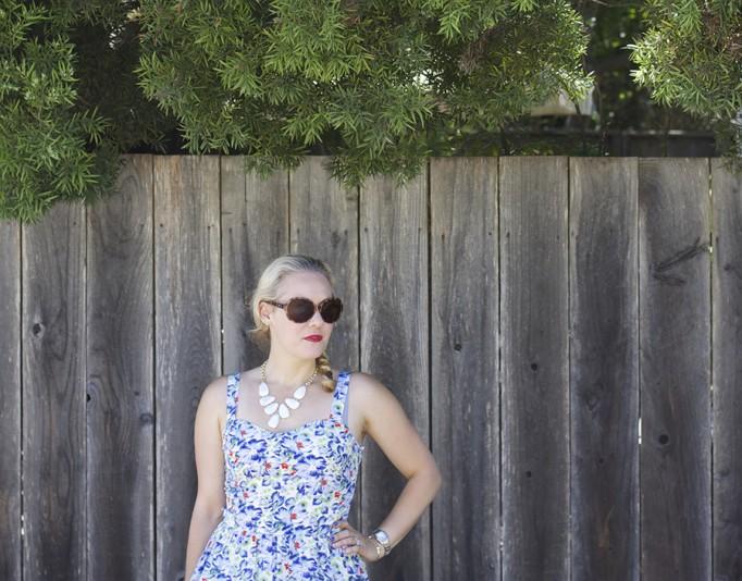 Floral Print Summer Dress Joie Clothing Summer Dress Kate Spade Fashion Blogger Summer Style 9