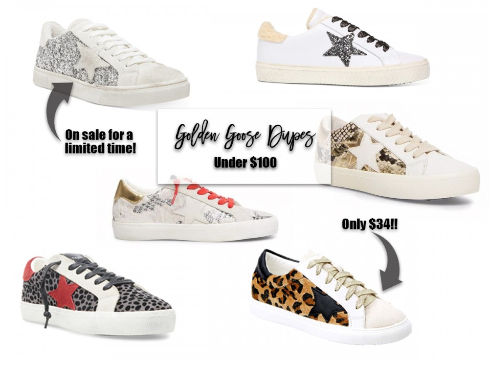 Goose Dupes Under $100. #goldengoose #goldengoosedupes #sneakers #distressedsneakers