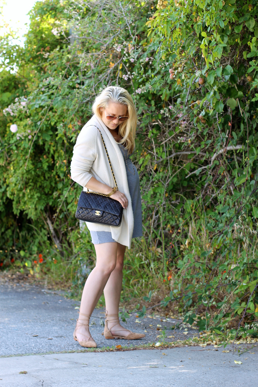 Grey Jersey Mini Dress-Maternity Style-Outfit Inspiration-Pregnancy Style-Have Need Want 10