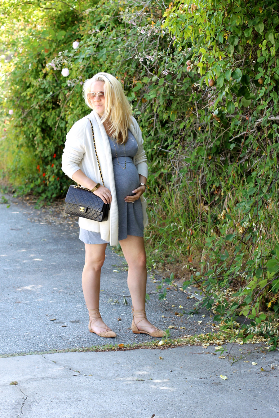 Grey Jersey Mini Dress-Maternity Style-Outfit Inspiration-Pregnancy Style-Have Need Want 8