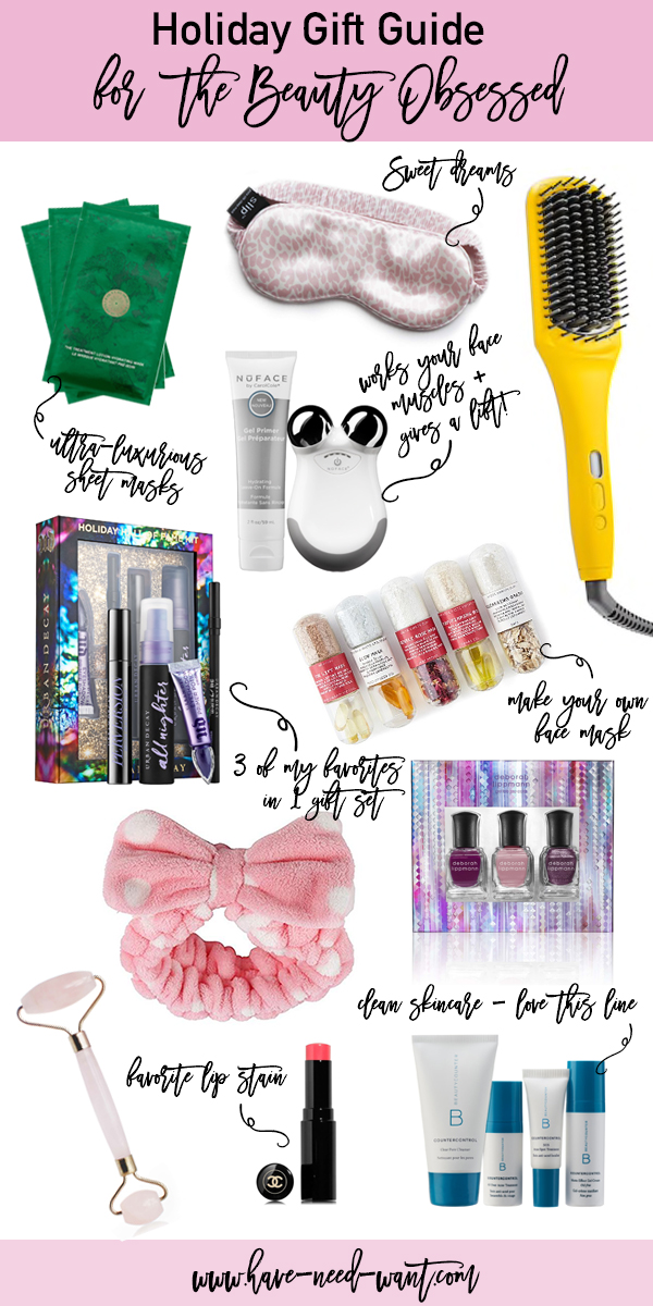 Holiday Gift Guide for the Beauty Obsessed with Skincare, Hair Care, and Beauty Products and Tools - Have Need Want