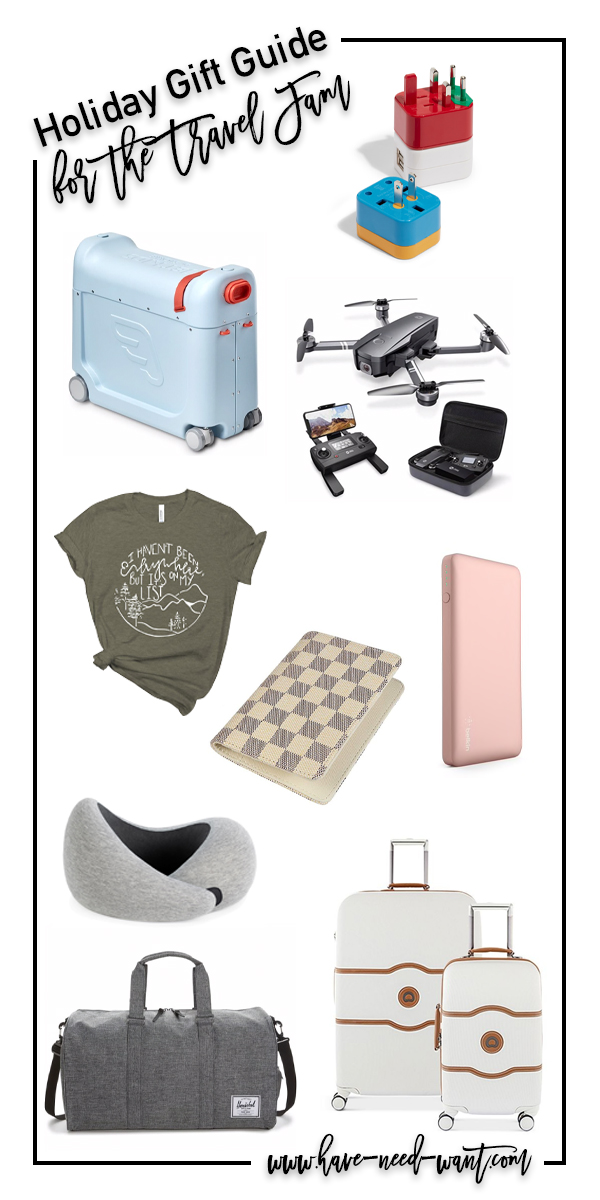 Gift ideas for the whole family! This travel gift guide is perfect for anyone who loves traveling with their family. Head to the blog to get all my gift ideas. #travelgifts #travelgiftguide #familygifts