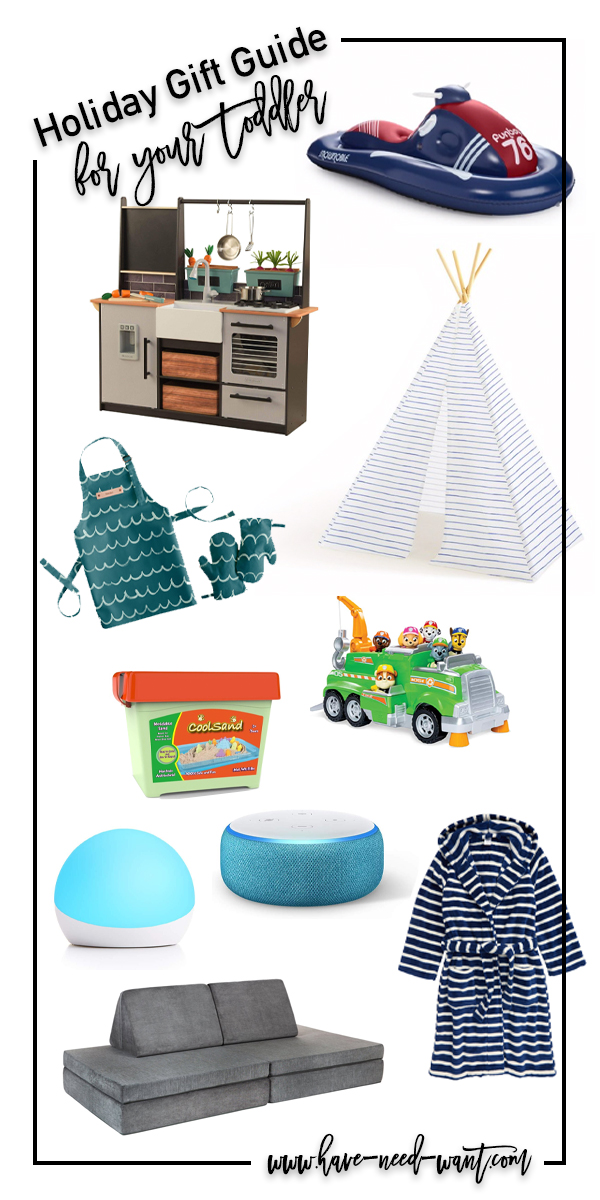 Some fun toddler gifts for an active and creative toddler! Head to the blog to check out my picks!! #toddlergifts #giftguide #holidaygifts #giftsforkids