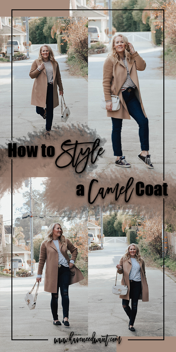How to style a camel coat and 10 ways to wear it on Have Need Want! Click on the pic to head to the post. #camelcoat #howtostyle #stylingtips #wintercoat #fallcoat #winterfashion