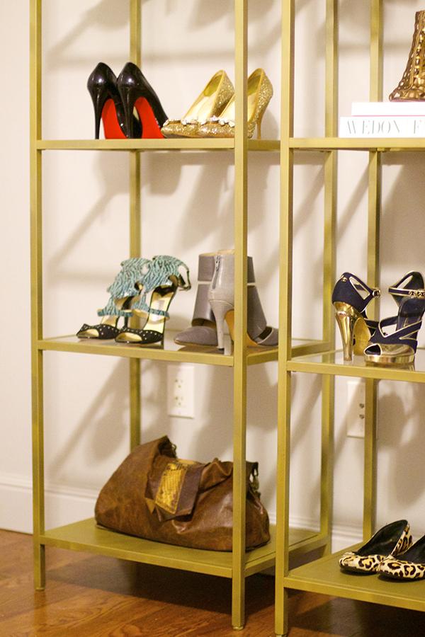 ikea hack, vittsjo bookcase, rustoleum spray paint, DIY, display cases, look for less