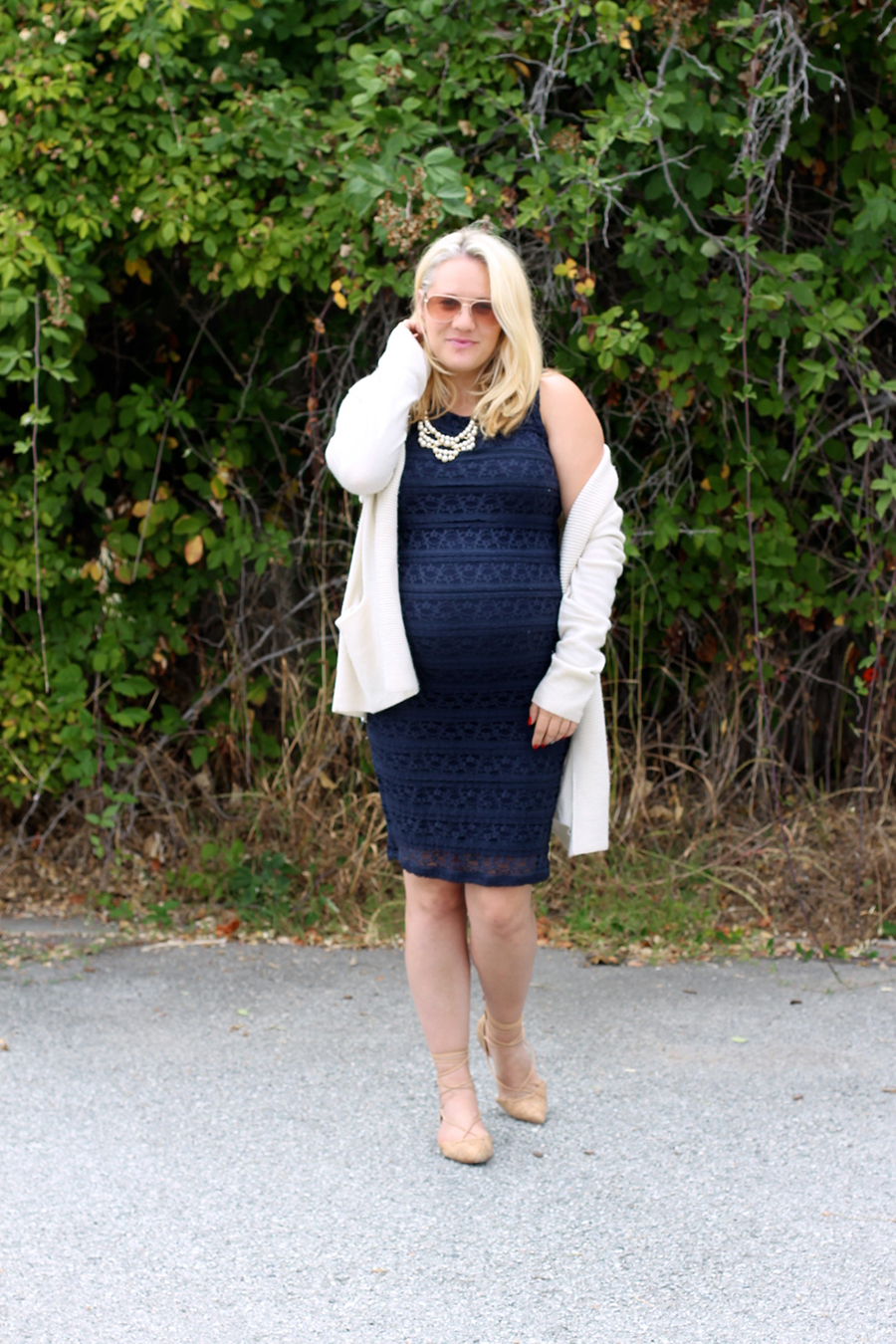 Ingrid and Isabel navy lace dress-Maternity Style-Outfit Inspiration-Bay Area Fashion Blogger-Have Need Want-Pregnancy Style 4
