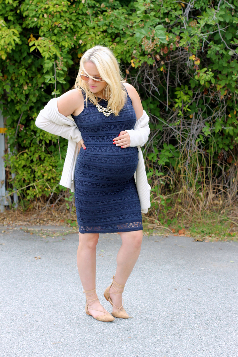 Ingrid and Isabel navy lace dress-Maternity Style-Outfit Inspiration-Bay Area Fashion Blogger-Have Need Want-Pregnancy Style 7