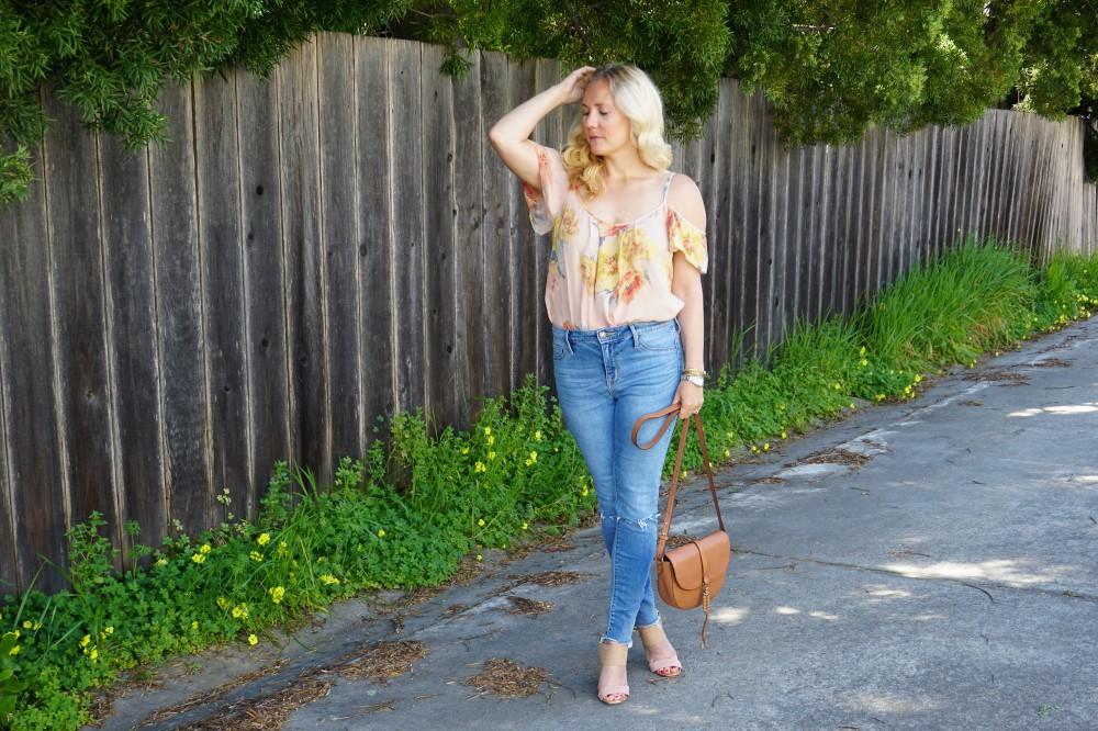Joie Cold Shoulder Floral Blouse-Spring Style-Flutter Sleeve Blouse-Outfit Inspiration-Have Need Want 13