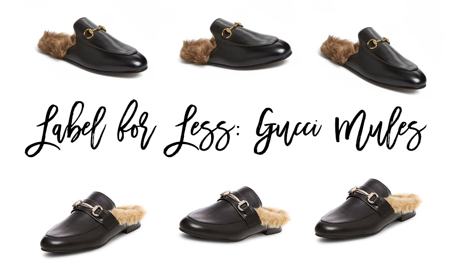 Label for Less: Gucci Princetown Mules