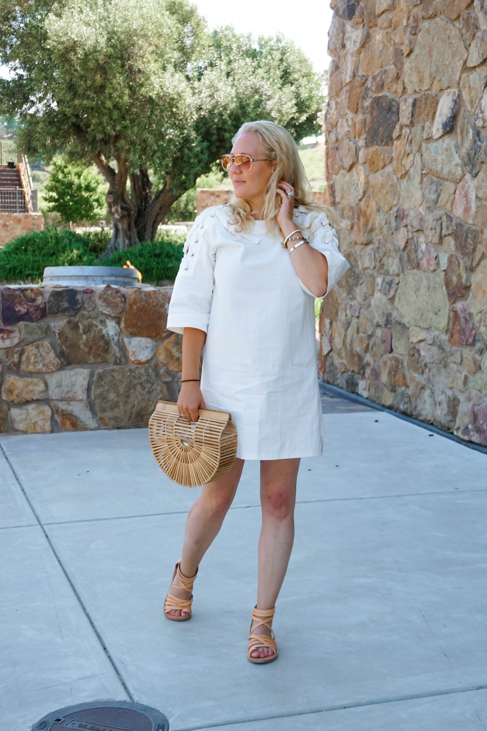 Lace-Up White Denim Dress-JOA Denim Dress-Summer Style-Bijou on the Park-Have Need Want-Outfit Inspiration-Mom Style 9