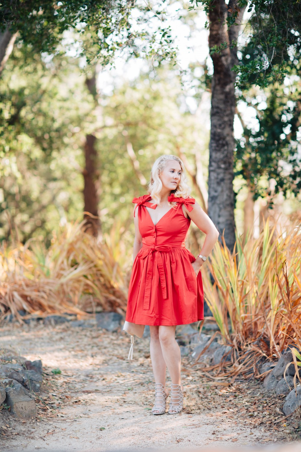 Little Red Dress-Alexis-Bow Detail Dress-Outfit Inspiration-Schutz Heels-Have Need Want 4