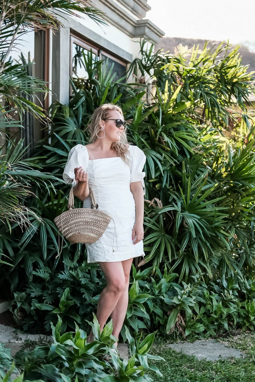 The perfect little white dresses that you can wear all year long on Have Need Want! Click on the photo to check out the post and get my top picks along with outfit details for this look. #littlewhitedress #springstyle #endlessrose #whitedresses