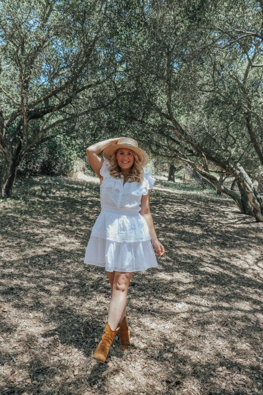 The perfect little white dresses for summer now on the blog! Loving this white dress from LoveShackFancy along with so many others that I've included in the post. Click on over to the blog to check it out! #littlewhitedresses #whitedresses #summerdresses #loveshackfancy #loveshackfancyxtarget