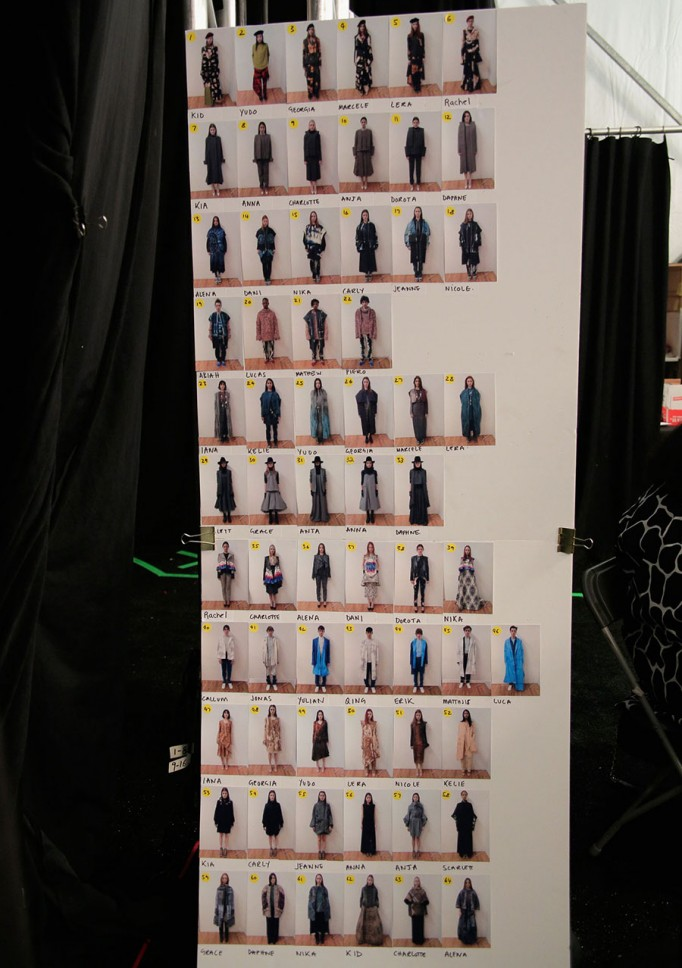 Full looks and show order. Photo courtesy of AAU.