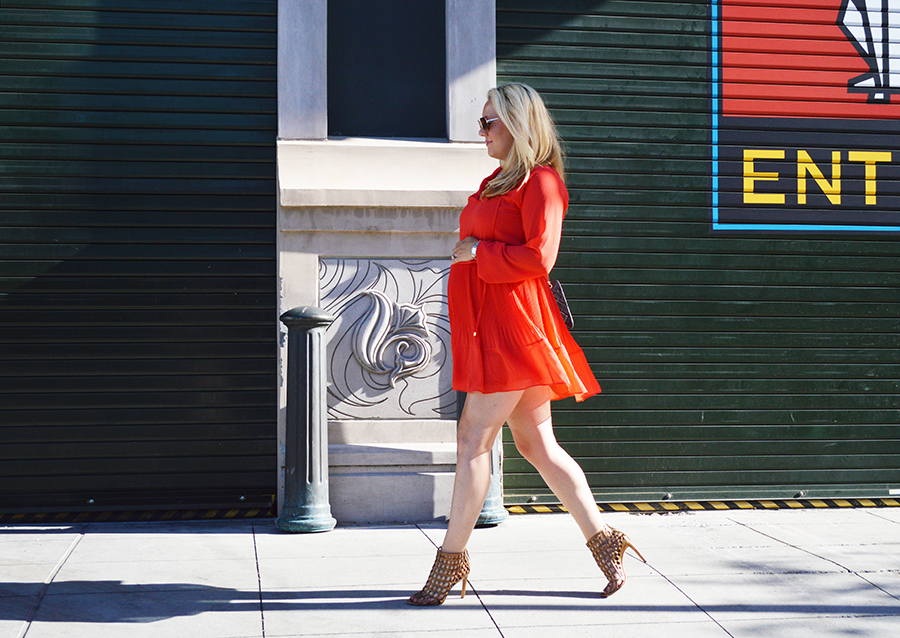 Micahel Kors Dress-Feminine Pleats-Outfit Inspiration-Maternity Style-Fashion Blogger-Have Need Want 4