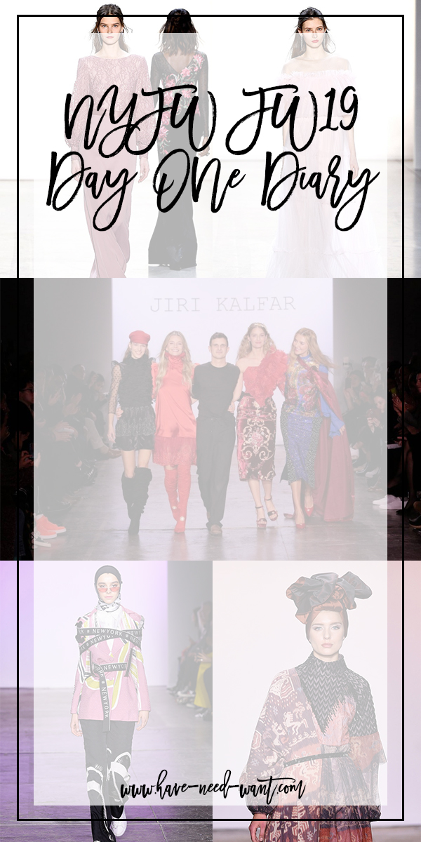 My NYFW FW19 Day One Diary is Now Live on Have Need Want! Click on the image to read the post! #NYFW #Runway #Behindthescenes #NYFWFW19