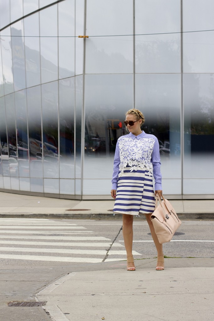 NYFW-Street Style-Fashion Blogger-Endless Rose-Topshop-Stripes and Lace-NYFW Day 3 Street Style 2