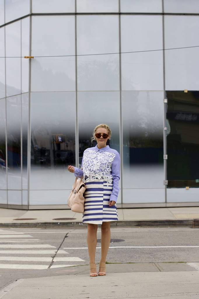 NYFW-Street Style-Fashion Blogger-Endless Rose-Topshop-Stripes and Lace-NYFW Day 3 Street Style