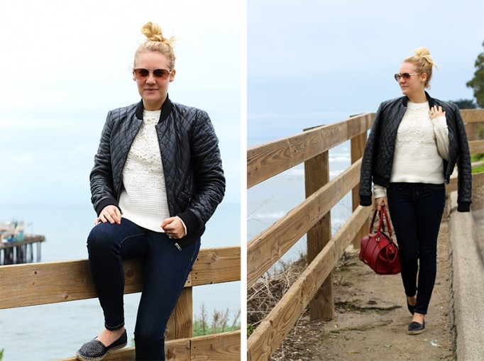 Nicole-Miller-quilted-leather-bomber-jacket