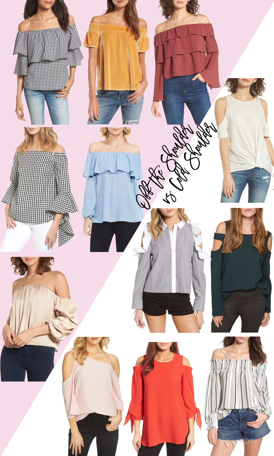 Off the Shoulder vs Cold Shoulder Tops