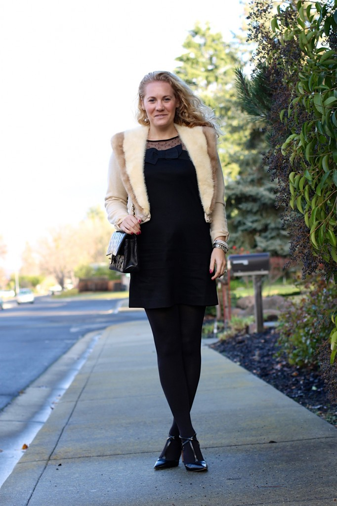 Outfit Inspiration-Holiday Style-Kate Spade Bow Dress-Chanel Classic Flap-Christmas Outfit 7