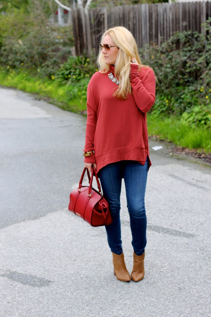 Oversized Turtleneck-Casual Style-Bay Area Fashion Blogger-Madison & Berkeley-Nordstrom-Kate Spade Sunglasses-Rocksbox-Statement Necklace