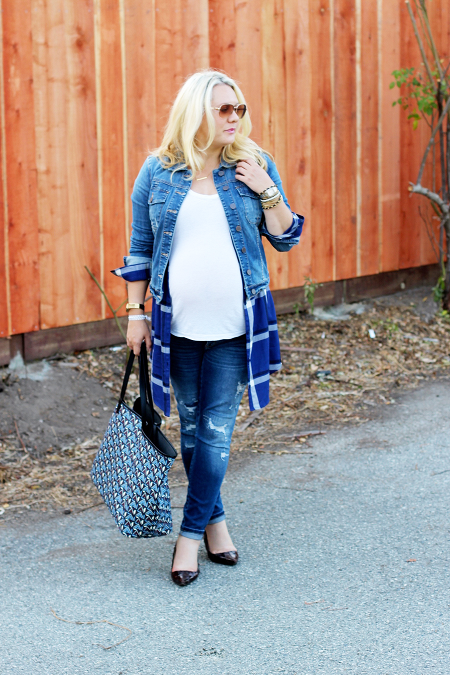 Plaid Shirtdress-Maternity Style-Styling Your Baby Bump-Styling Tips-Pregnancy Style-Have Need Want 12