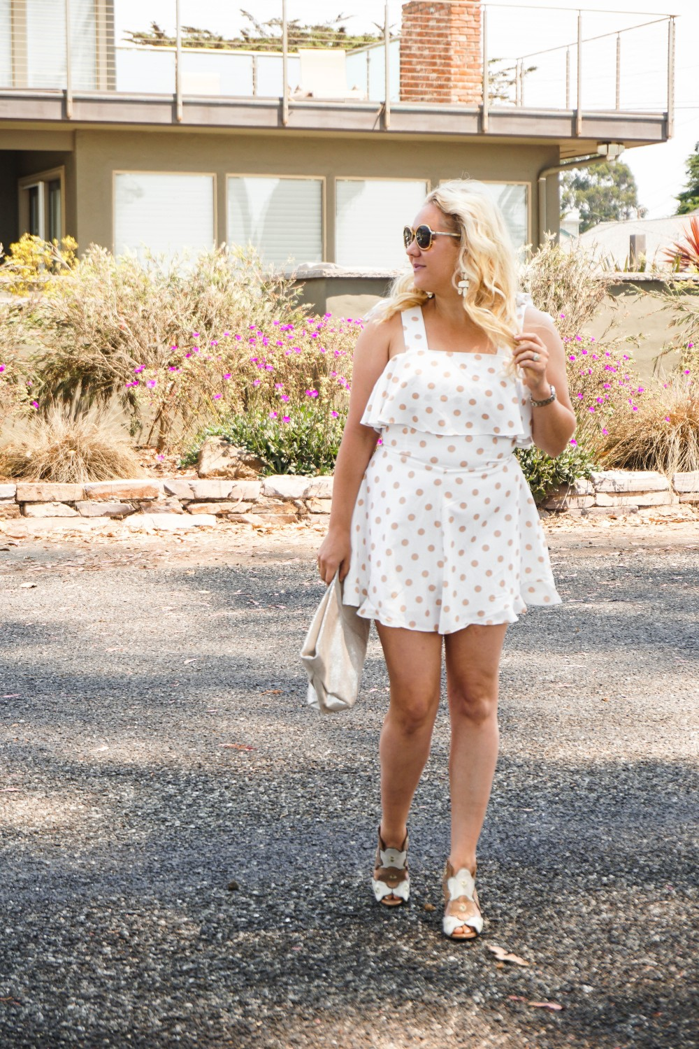 Polka Dot Romper, Saks Off Fifth, Summer Style, Outfit Inspiration, Chloe Sunglasses, Have Need Want