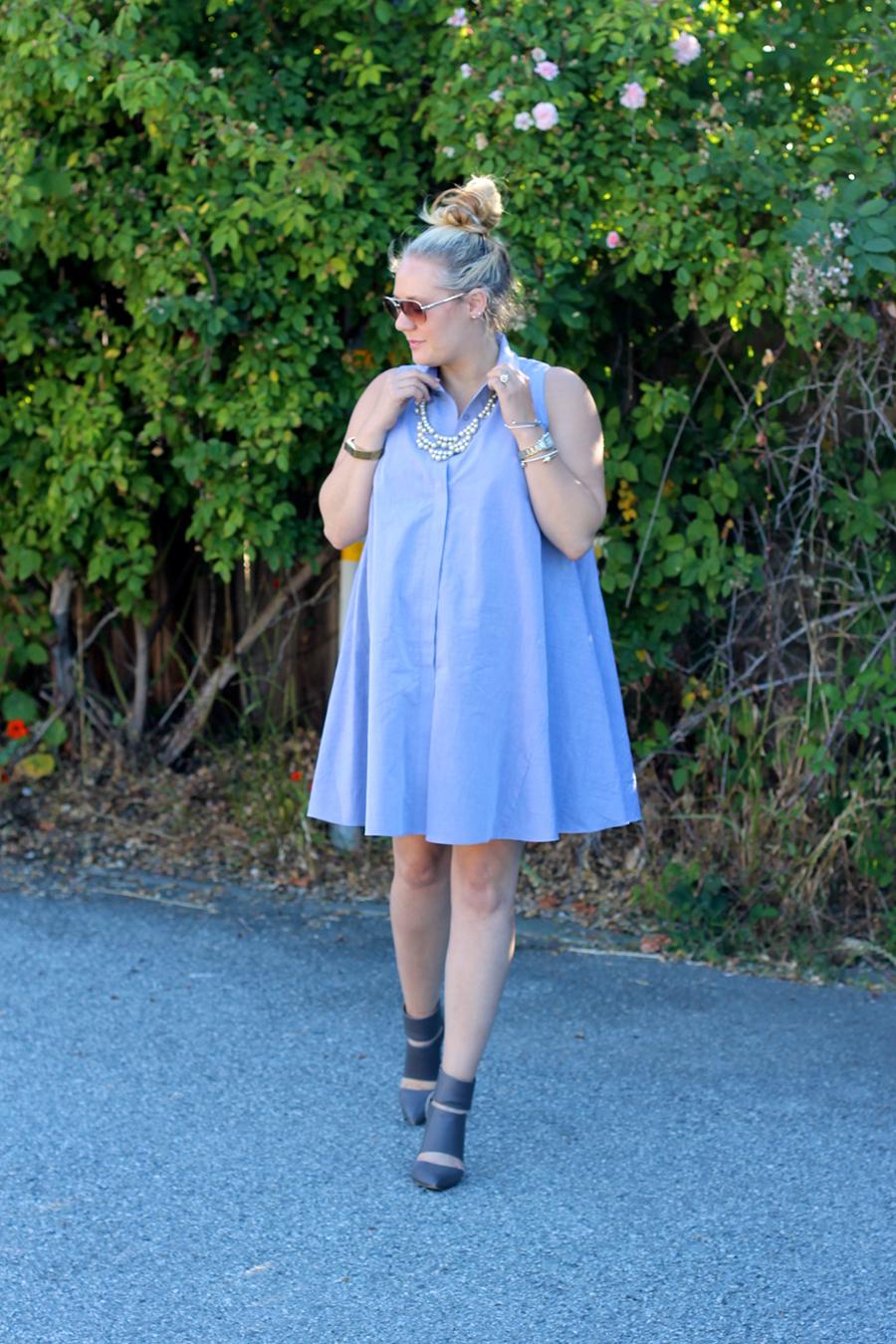 Rachel Roy-Sleeveless Shirtdress-Swing shirtdress-maternity style-outfit inspiration-have need want 9
