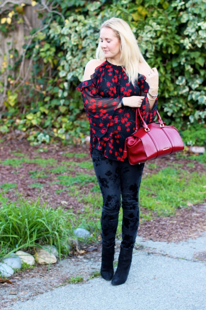Rachel Zoe Open Shoulder Blouse-Winter Outfit Inspiration-Have Need Want-Bay Area Fashion Blogger-Open Shoulder Blouse-Burberry Handbag-Manolo Blahnik Booties 8
