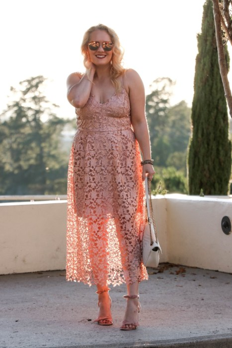 Rose Gold Lace Dress for NYE