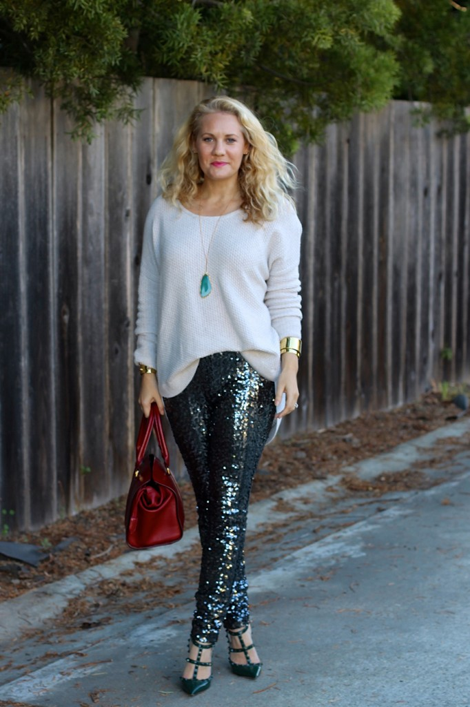 Sequin Pants-Holiday Outfit Inspiration-Have Need Want-Fashion Blogger-BB Dakota-Valentino-Burberry-Bay Area Fashion Blogger 7