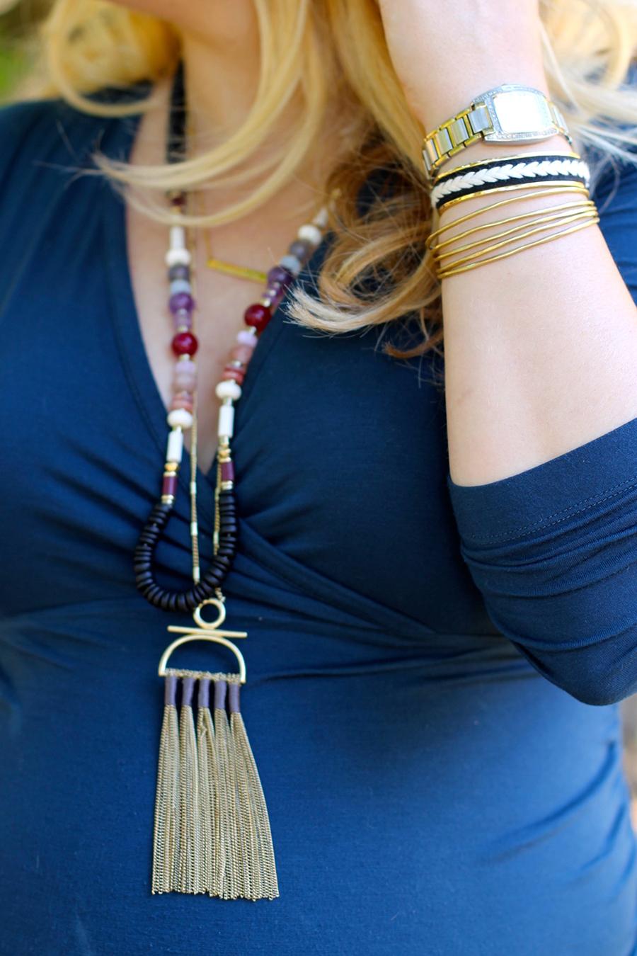 Shirred Dress-Maternity Style-Fashion Blogger-Stella & Dot-Fall Style-Pregnancy Style 4