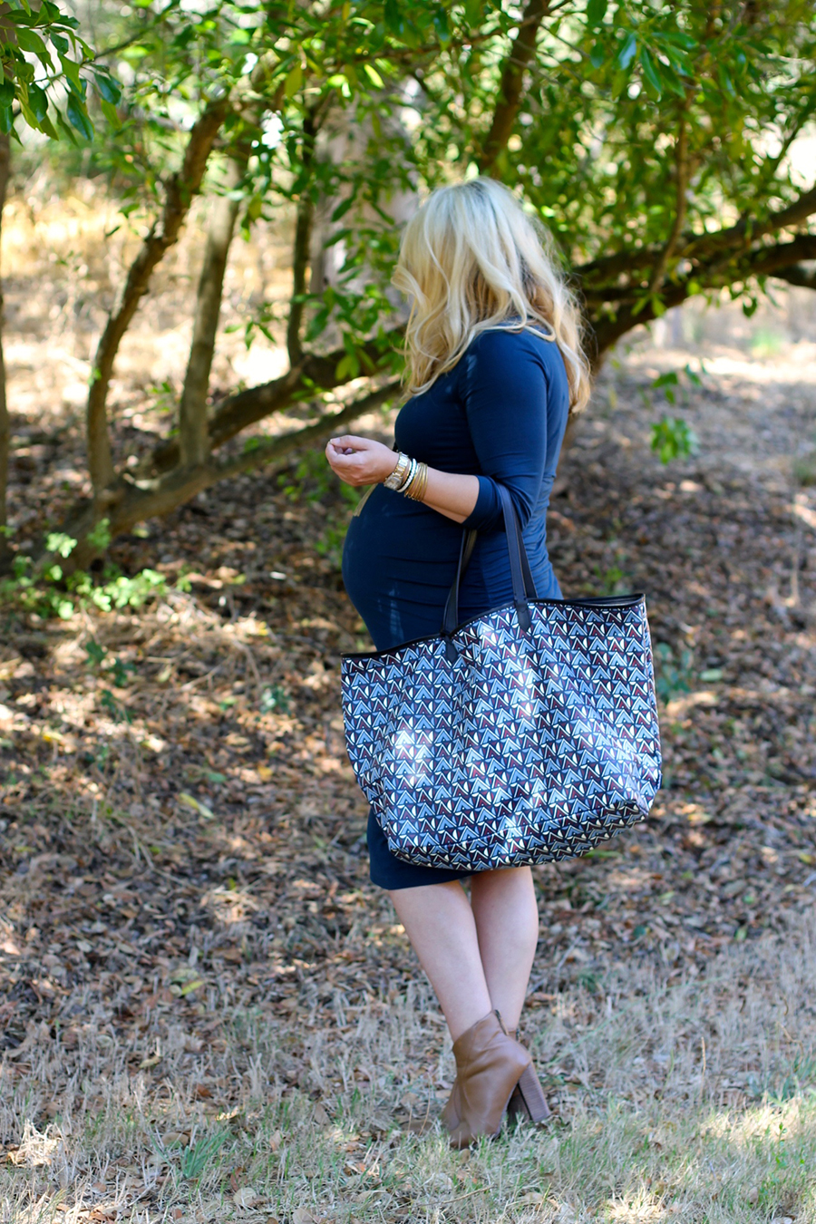 Shirred Dress-Maternity Style-Fashion Blogger-Stella & Dot-Fall Style-Pregnancy Style 5