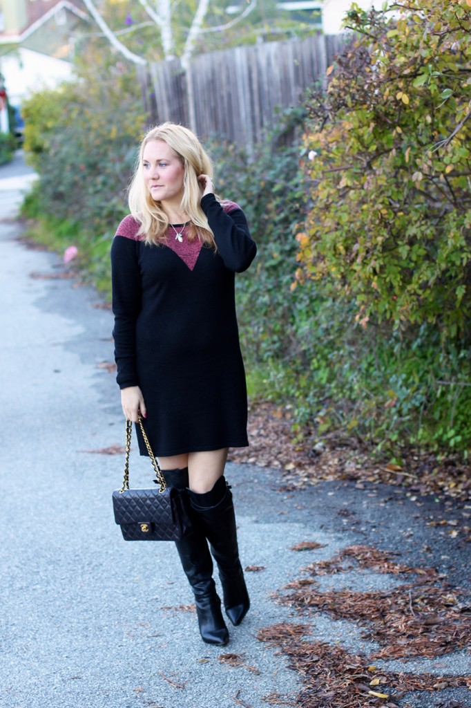Skunkfunk-Sweater Dress-Bay Area Fashion Blogger-Outfit Inspiration-Sweater Weather-Have Need Want-Chanel Handbag 3