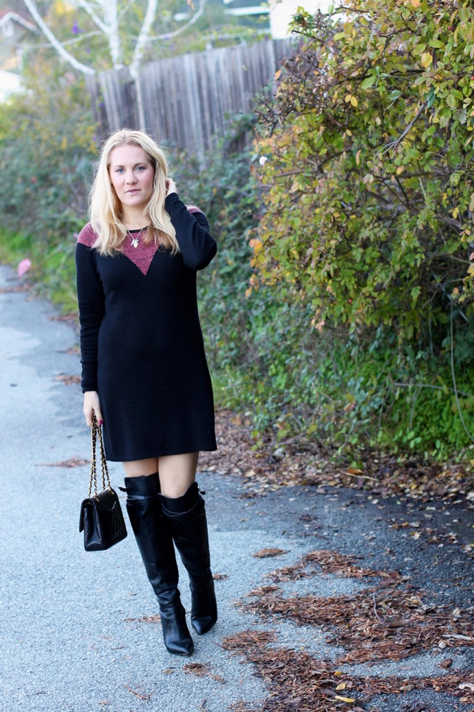 Skunkfunk-Sweater Dress-Bay Area Fashion Blogger-Outfit Inspiration-Sweater Weather-Have Need Want-Chanel Handbag