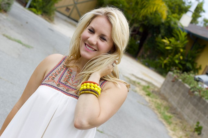 The Mint Julep Boutique Embellished Dress Flowy Dress Fashion Blogger Outfit Inspiration Summer Dress