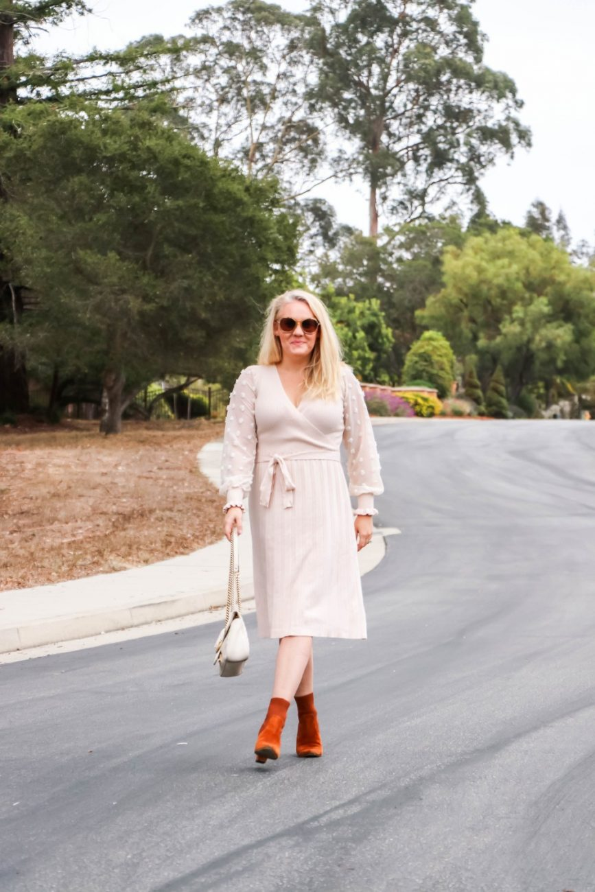 Wearing the perfect Thanksgiving sweater dress today on Have Need Want! Sharing a few easy outfit swaps to switch up this dress for all your Thanksgiving festivities. Head over to the post to check it out + get details on where to shop! #thanksgiving #thanksgivingoutfit #sweaterdress #amazonfashion