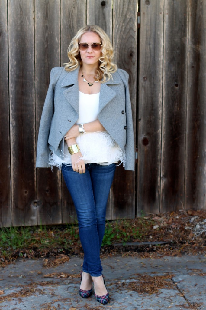 Tibi-Feather Top-Outfit Inspiration-Winter Style-Charles David- Winter Style with ShoeBuy 7