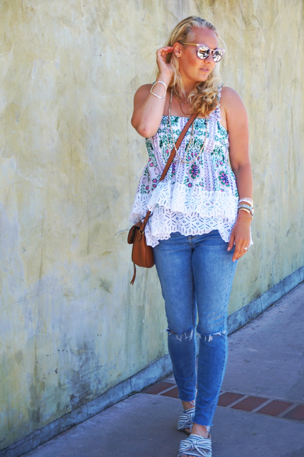 Tiered Babydoll Top-Lace Trim Silk Georgette Top by Tory Burch-Spring Outfit Inspiration-Bay Area Fashion Blogger-Weekend Style-Have Need Want