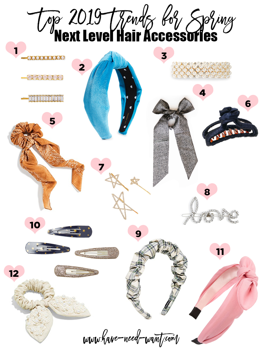 Next Level Hair Accessories are one of the Top 2019 Trends for Spring. Click on the photo to check out the post and get all the product details! #2019trends #hairaccessories #hairtrends #springtrends #spring2019trends