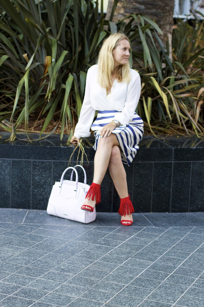 Top Shop Patriotic Outfit Red White and Blue Outfit Inspiration Nordstrom 6