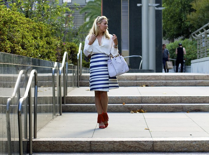 Top Shop Patriotic Outfit Red White and Blue Outfit Inspiration Nordstrom 9