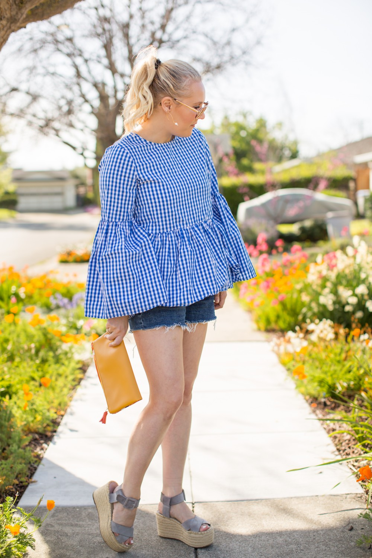 30703ca75017 Shorts: Treasure and Bond. Shoes: Marc Fisher. Clutch: Rachel Pally c/o Fab  Fit Fun. Sunglasses: Kate Spade.