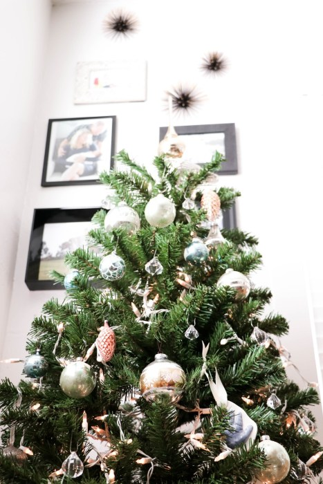 Christmas Tree with Vintage Mercury Glass Ornaments - Have Need Want