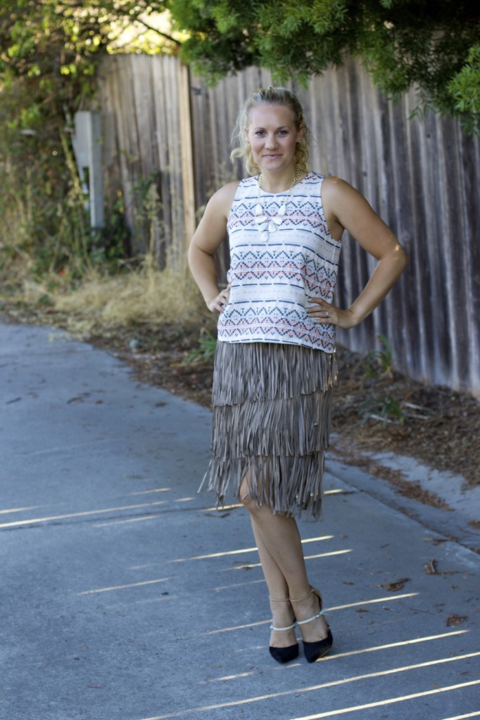 fall 2015 trend finge skirt fringe friday outfit inspiration aztec top matison stone neiman marcus fashion blogger 6