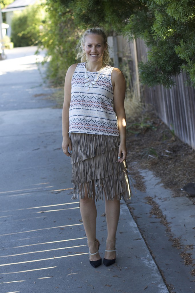 fall 2015 trend finge skirt fringe friday outfit inspiration aztec top matison stone neiman marcus fashion blogger 8